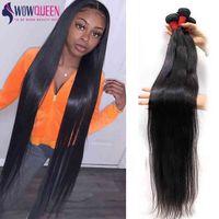 36 38 40 Bone Straight WOWQUEEN 100% Hu Remy 30 Inch Soft Brazilian Hair Weave Bundl