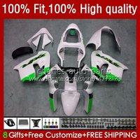 Green white Injection Bodywork For KAWASAKI NINJA ZX-9R ZX900 900CC 1998-2003 Body 25No.141 ZX9 9 R ZX 9R 900 CC ZX9R 00 01 02 03 ZX-900 2000 2001 2002 2003 OEM Fairing Kit