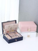Jewelry Pouches, Bags High-End European Large-Capacity Multilayer Box Earrings Necklaces Ring Display Storage