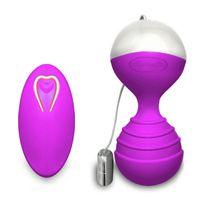 Hombre Nuo Monle Silicone impermeable 10 Función USB Recargable Control remoto inalámbrico Vibrador de bola para las mujeres juguetes sexy