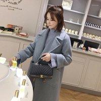 Liva girl Women Winter 2019 Coats Autumn and Winter Coat New Loose Pink Wool Coat Thick Long Female1