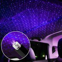 Araba Çatı Yıldız Gece Işıkları İç Dekoratif Işık Usb LED Lazer Projektör Bulutlu Yıldızlı Gökyüzü Aydınlatma Efektleri Interiorexternal