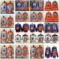 2021 Reverse Retro Branco Edmonton Oilers Hóquei Jerseys 97 Connor McDavid 29 Leon Dragaisaitl 99 Wayne Gretzky 93 Ryan Nugent Hopkins 74 Ethan Bear todo costurado