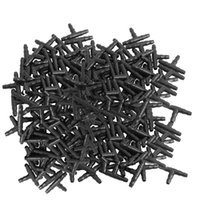 Drip Irrigation Barbed Connectors, Universal Tee Fittings 100Pcs, Fits 1 4 Inch Tubing (4 7mm Pipe) Watering Equipments