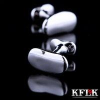 KFLK Bijoux Chemise Pois Cufflink for Mens Brand Cuff Link Wholesale Novelty Designer Boutons de haute qualité invités