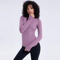 Giacca donna auto-coltivazione skinny run yoga bodybuilding manica lunga velocità formazione bodybuilding serve t shirt