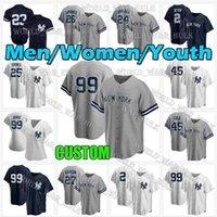 99 Аарон Судья Трикотажные трикотажные Янки 2 Дерек Джетер 45 Gerrit Cole Новый 3 Babe Ruth Бейсбол DJ Lemahieu Дон Маттинг York 2021