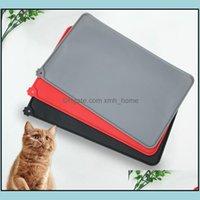 Kennels Supplies Home Gardenkennels & Pens Dog Feeding Placemat Pet Bowl Drinking Mats Cat Pad Cushion Sile Waterproof Anti-Skid Anti-Sprink