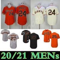 Custom SF Hombres Mujeres Jóvenes Giants Jersey 24 Willie Mays 25 Barry Bonds 27 Juan Marichal 29 Jeff Samardzija Jerseys de béisbol