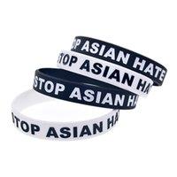 Pare asiático ódio pulseiras de silicone debossed preenchido em festa de cor favor a pulseira de pulseira de slogan personalização tr0004