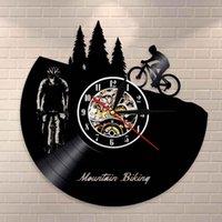 Duvar Saatleri Freeride Biker Spor Vintage Dekor Dağ Bisikleti Saat Kayıt LP Bisiklet Bisiklet Bikers Dekoratif