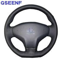 Steering Wheel Covers Handsewing Car Black Artificial Leather Breathable For Elysee C-Elysee 2014