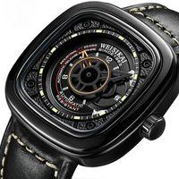 2021 Weisikai 자동 손목 시계 남자 광장 창조적 인 자동 기계식 시계 빛나는 방수 손목 시계 남성 스포츠 시계