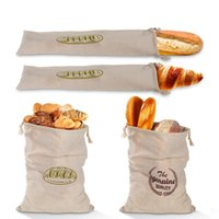 Storage Bags 1pc Reusable Linen Bread Homemade French Baguette Packaging Drawstring Eco-Friendly Bag