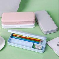 Cajas de lápices de macarrones para estudiantes de escuela primaria Helado PP Aprendizaje Papelería Lápiz Caja para niños HWB10287