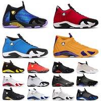 Nike Air Jordan Retro 14 Jordans 14s Jumpman AJ 2021 وصول أحذية كرة السلة للرجال رجال الرياضة جيم الأحمر جولد سبت أسود الأزرق dernbecher الرجعية الرجال الرياضة رياضة المدربين