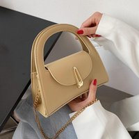Evening Bags Small PU Leather Crossbody Bag With Short Handle For Women 2021 Trends Shopper Chain Top Shoulder Purses And Handbags