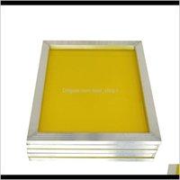 أجزاء أداة الألومنيوم 4331 سنتيمتر إطار طباعة الشاشة امتدت مع الأبيض 120t الحرير طباعة البوليستر شبكة صفراء للطباعة لوحة الدوائر TDJCS