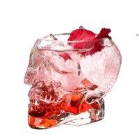 شفافة الجمجمة الزجاج أكواب الكريستال الجمجمة رئيس الفودكا النبيذ النار الزجاج شرب كأس الهيكل العظمي القراصنة فرايات البيرة الزجاج القدح NHE7024