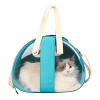 Katze Back Bag Space Warehouse Transparente faltbare atmungsaktive Pet Handtasche Outdoor Travel Carriers, Kisten Häuser