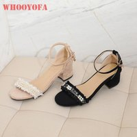 Dress Shoes 2021 Summer Brand Sexy Beige Black Women Nude Sandals 2 Inch Med Heel Lady Plus Big Small Size 31 12 43 47 52