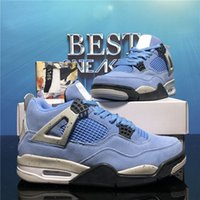 Top Quality Jumpman 4 4S Zapatos de baloncesto para hombre Mujeres Running Loyal Blue Sail Kaws Raptors Blanco Cemento Alternativo Motorsport Bred Sport Trainer Sneaker con caja