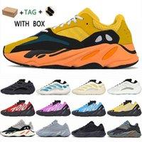 2021 Kanye West 700 V1 V2 V3 MNVN Runner Mens Sapatilhas Sapatos Azael Alvah Azareth Utilidade Preto Sólido Fosforão Orange Womens Sport # 545