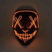 파티 용품 할로윈 카니발 의상 장식 빛나는 LED 마스크 Maske 빛을 마스크 HWB8785