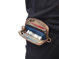 Cosas sacos Tactical Mini Tarjeta Tarjeta Money Paquete Paquete de llavero Bolsa de cintura Nylon con carabiner libre Camping Senderismo Al aire libre Impermeable Correa Pequeña bolsa pequeña