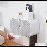 Коробки тканей Салфетки Hobbylane Ванная комната Уолконтированная стойка для хранения Туалетная бумага рулона для мусора борзовый кронштейн B6DV3 JKPTW
