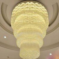 Потолочные светильники Вилла Двойная гостиная светодиодные хрустальные люстры эль вести лобби пользовательских клубов отдел продаж проекта освещение лампы