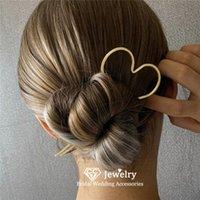 Hair Clips & Barrettes Sticks Wedding Accessories For Women Bridal Headdress Engagement Hairwear Heart Star Shape Forks Jewelry Charm Sal