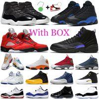 أحذية كرة السلة الرجالية air jordan retro 11s اليوبيل 12s Dark Concord Reverse Flu Game 13s Hyper Royal Red Flint المرأة المدربين أحذية رياضية رياضية