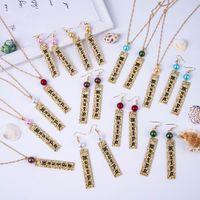 Jóias conjuntos brincos Colar simples delicy colorido pingente pingente polinésio colares havaiano conjunto 14k banhado a ouro por atacado