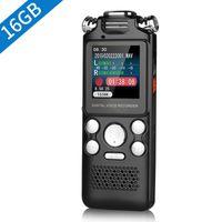 Gravador digital de mão estéreo profissional 16G Voz ativada de áudio de som 1536Kbps com reprodução