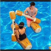 Float Trubs 4 Pudesset Joust Pool Ploat Game Игра Надувные Водные Спортивные Игрушки Бампера Для Взрослых Детская Вечеринка Гладиатор Плот-Кимборд N EFMAE