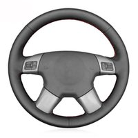 Steering Wheel Covers Black PU Leather Car Cover For Vectra C 2002-2005 Signum 2003-2005 Vauxhall Holden 2004