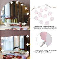 Compact Mirrors 10 Bulbs Makeup Mirror Vanity LED Light Dimmable Bulb String Adjustable Warm Cold Tones Kit For Dressing Table