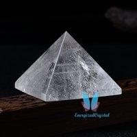 Natural Clear Quartz Healing Crystal Pyramid Reiki Healing Chakra Meditation
