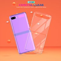 Przezroczyste przypadki telefonów komórkowych Samsung Galaxy Z Flip 2 A10 A40 A30 A50 A70 M20 A40 A30 A50 A70 M20 A10E A20E TPU PC na wstrząskowy osłona obudowa