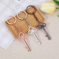 Crown Key Bottle Opener Keychain Party Favors 5 Couleurs Guest Bridal Douche Souvenirs Ouvre-cadeaux pour mariage RRA7149