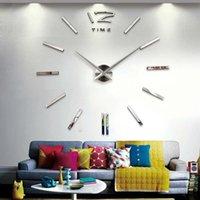 벽시계가 추천! 쿼츠 DIY 3D 시계 20 인치 대형 시계 아크릴 미러 금속 스티커 홈 장식