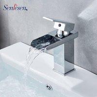 Torneiras de pia do banheiro Torneiras Senlesen Torneira Torneira montada Chrome Bronze Vanity Mixer Torneira Frio