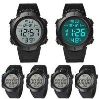 Wristwatches Fashion Waterproof Men's Boy LCD Digital Stopwatch Date Rubber Sport Wrist Watch Automatic Luminous Clock Men Mechani