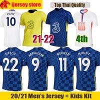 21 22 Chelsea Camiseta de fútbol WERNER ZIYECH 2021 2022 ABRAHAM PULISIC Camiseta HAVERTZ LAMPARD KANTE CHIILWELL Fans Versión de jugador Jersey hombre Kit niños