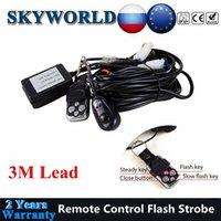 Luz de trabalho Skyworld Controle Remoto Flash Strobe Fiação Harness Interruptor LED Wire Relé Kit 40A 12V Offroad para Auto Carro 4x4 4WD UAZ SUV