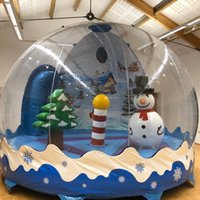 New Design Photo Booth For Human Size Snow Globe Free Pump 3M Dia Inflatable Snow Globe Christmas Yard Decoration Clear Bubble Dome For Advertising Factory Price