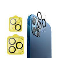 3D الحرير طباعة مكافحة الصفر كاميرا عدسة حامي الزجاج المقسى ل iPhone13 12 11 برو ماكس سامسونج S20 الترا الكامل غطاء واضح بدون حزمة