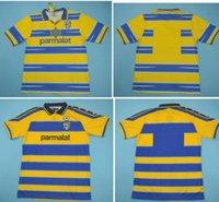 1998 1999 2000 Parma Retro soccer Jersey 98 99 00 FUSER 8 BAGGIO 9 CRESPO 10 ORTEGA 11 AMOROSO F CANNAVARO Football shirt calcio