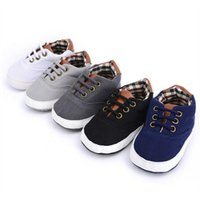 First Walkers Born Baby Shoes Girl Boys Causal Bow Anti-slip Soft Sole Plaid Patchwork Moccasin Sport Little Child Prewalker